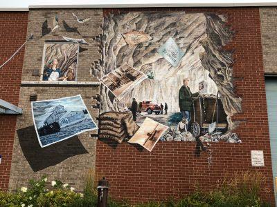 Fresque de la Canadian Flint and Spar-une