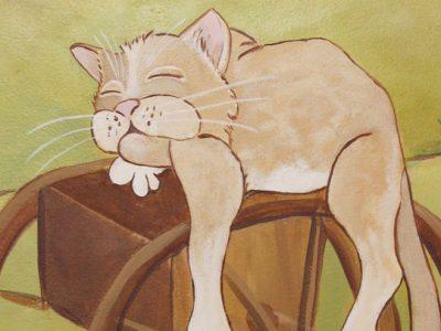 Peinture-murale-chambre-moulin-chat-galery