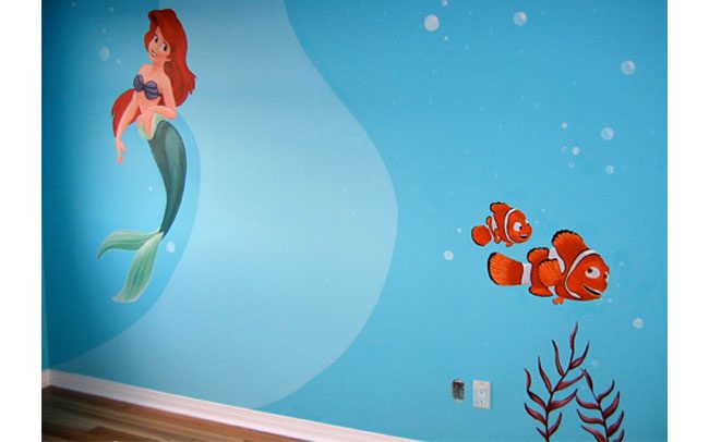 Peinture-murale-fonds-marins-disney-1