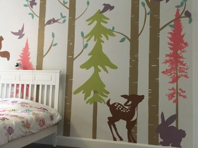 peinture-murale-chambre-foret-animaux-4