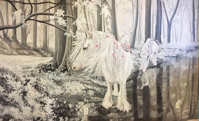 peinture-murale-chambre-fillette-chevaux-2