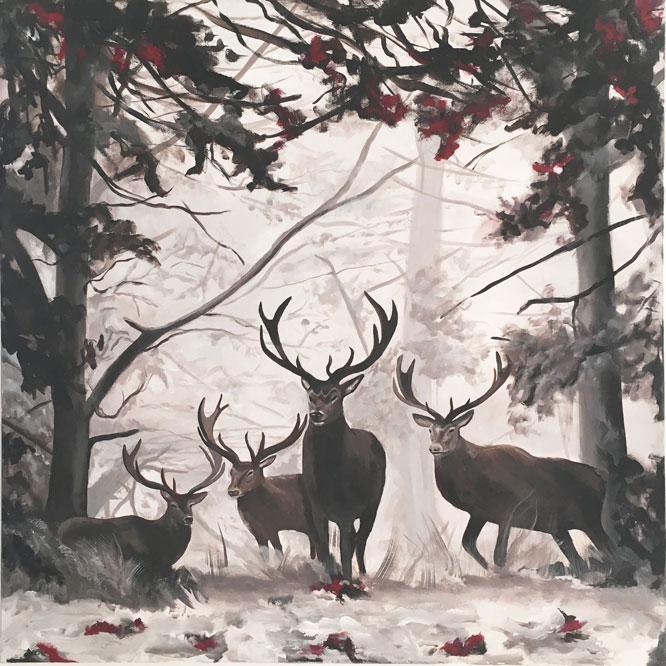 peinture-sur-toile-cerfs-2