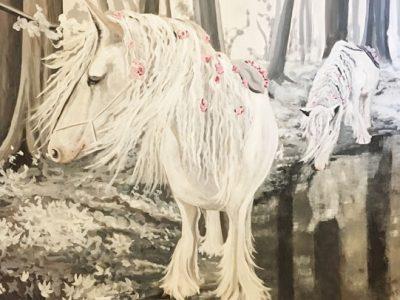 peinture-murale-chambre-fillette-chevaux-1