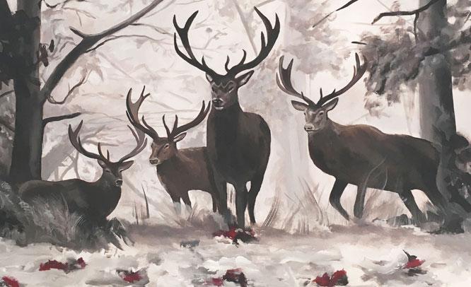 peinture-sur-toile-cerfs-1
