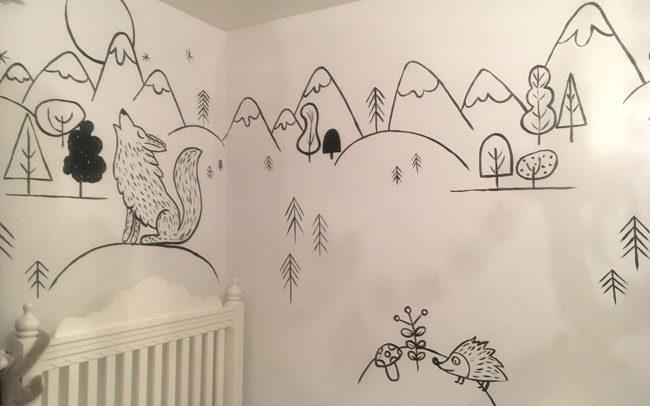 peinture-murale-chambre-enfant-noiretblanc-3